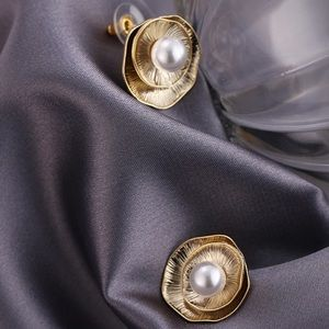Anthropologie Jewelry - Gold Shell stud earrings